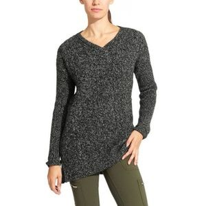 Athleta Asymmetrical Northern Lights Gray Sweater